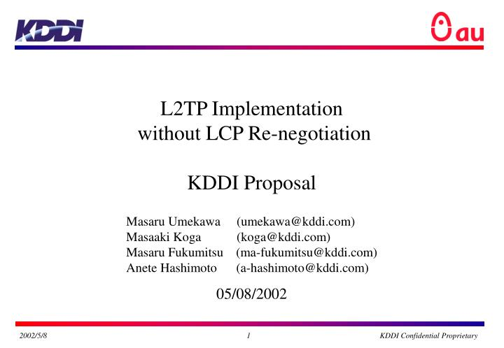 L2TP Implementation