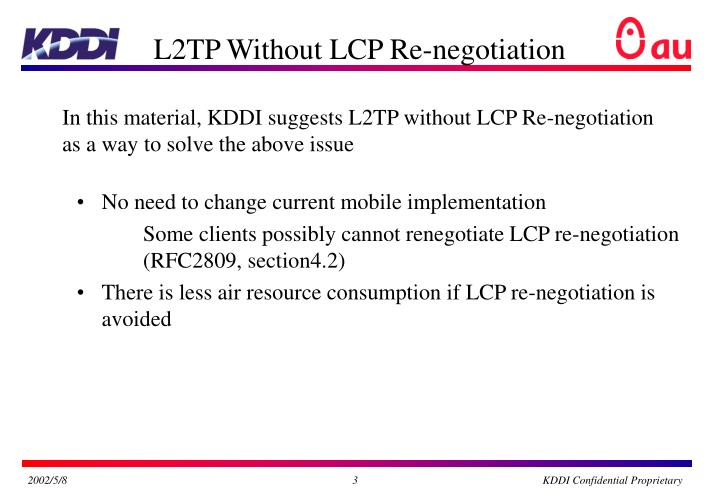 L2TP Without LCP Re-negotiation