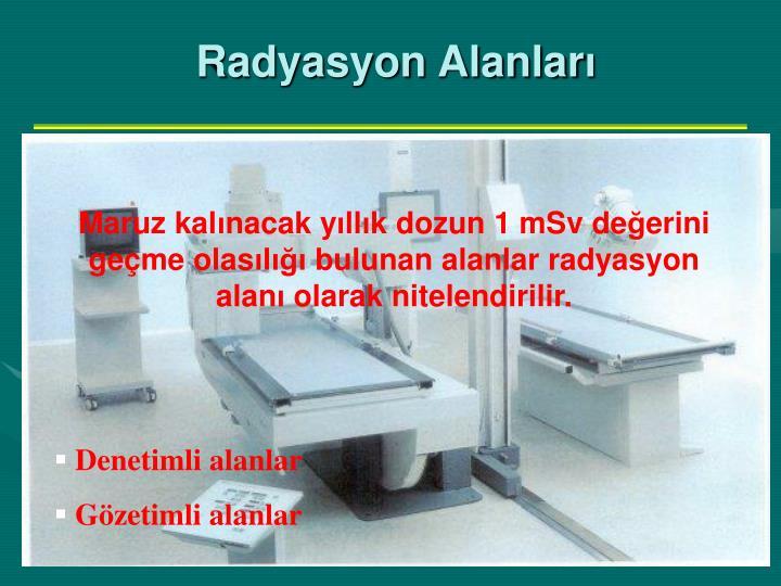 Radyasyon Alanlar