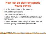 how fast do electromagnetic waves travel