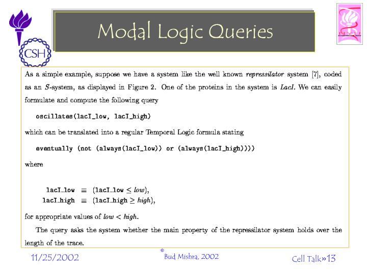 Modal Logic Queries