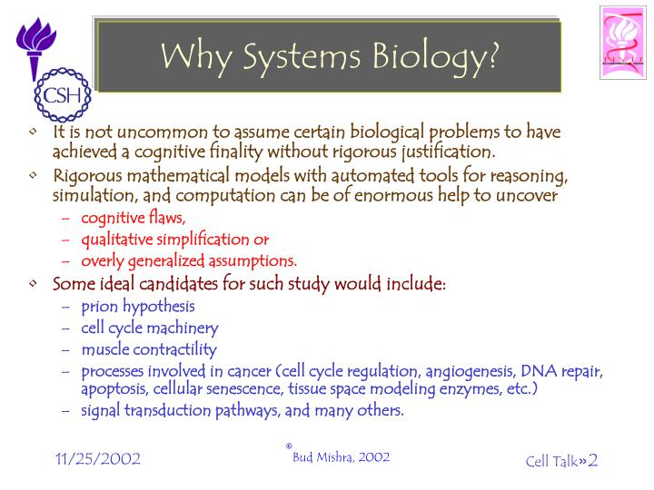 Why Systems Biology?
