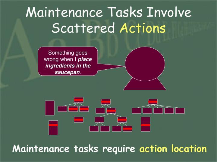 Maintenance Tasks Involve Scattered