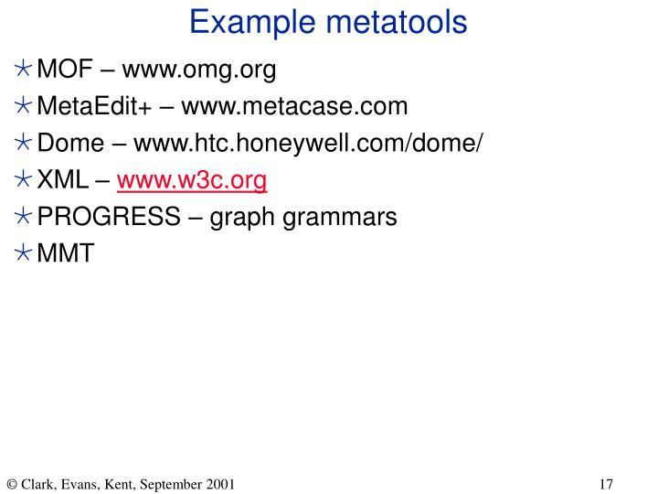 Example metatools