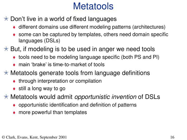 Metatools