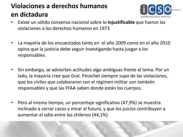 Violaciones a derechos humanos