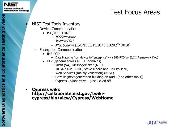 Test Focus Areas