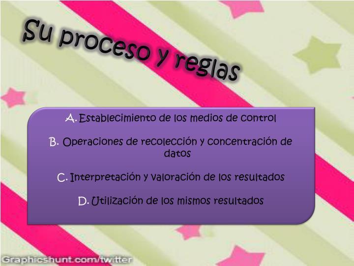 Su proceso y reglas