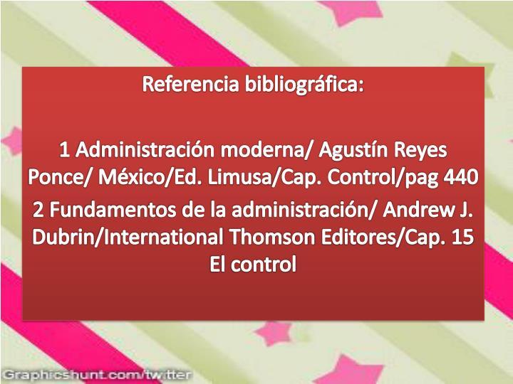Referencia bibliográfica:
