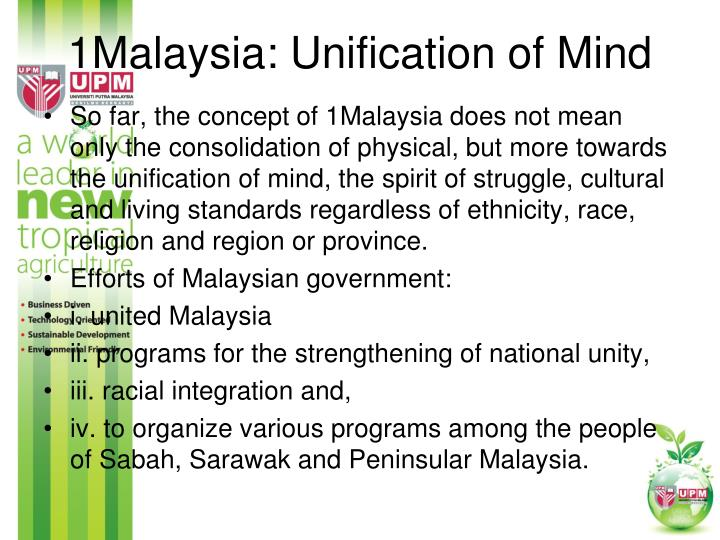 1Malaysia: Unification of Mind