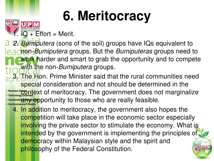 6. Meritocracy