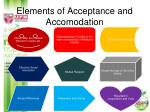 elements of acceptance and accomodation