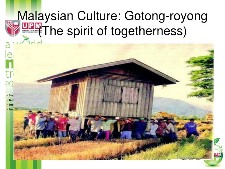 Malaysian Culture: Gotong-royong (The spirit of togetherness)