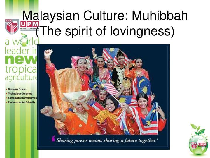 Malaysian Culture: Muhibbah (The spirit of lovingness)