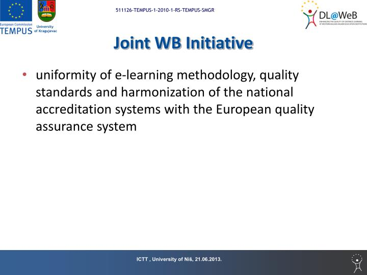 Joint WB Initiative