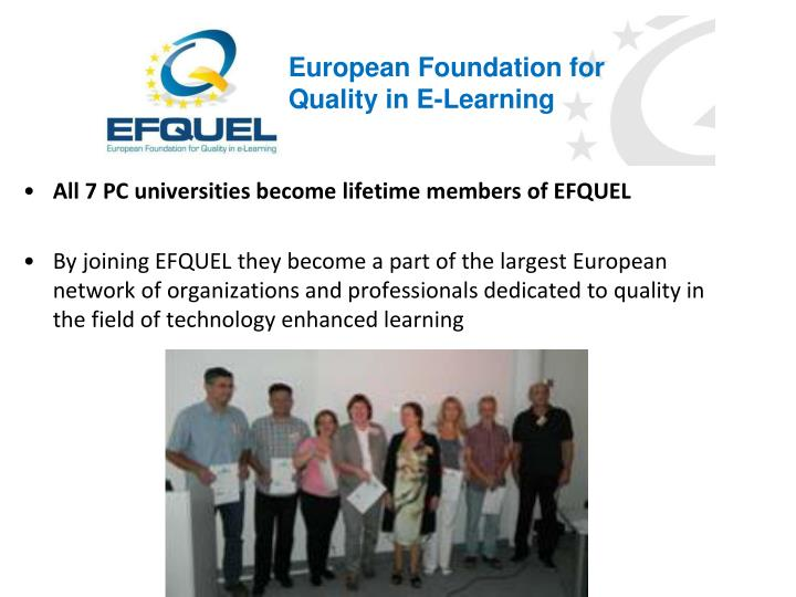 European Foundation for Quality in E-Learning
