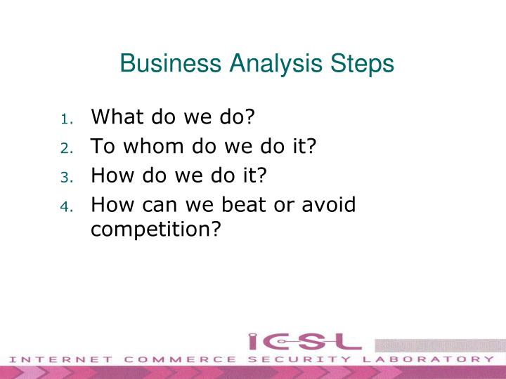 Business Analysis Steps