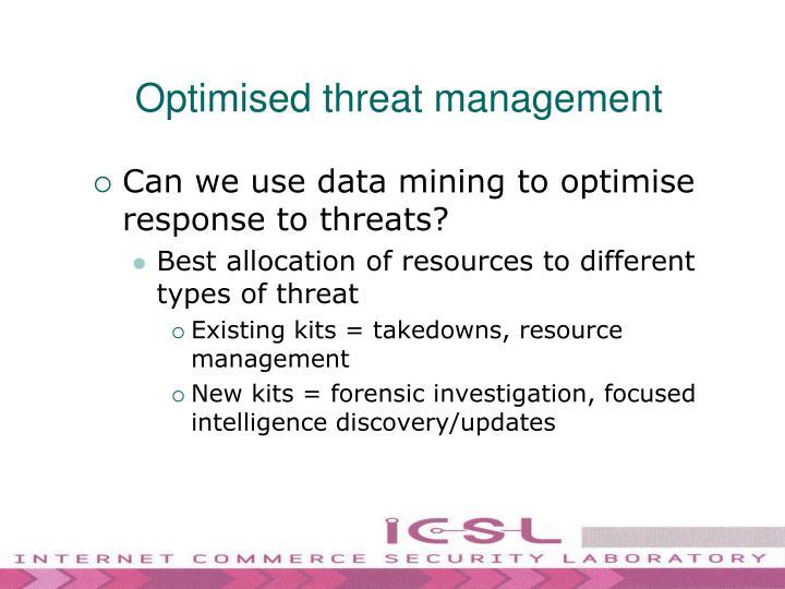 Optimised threat management
