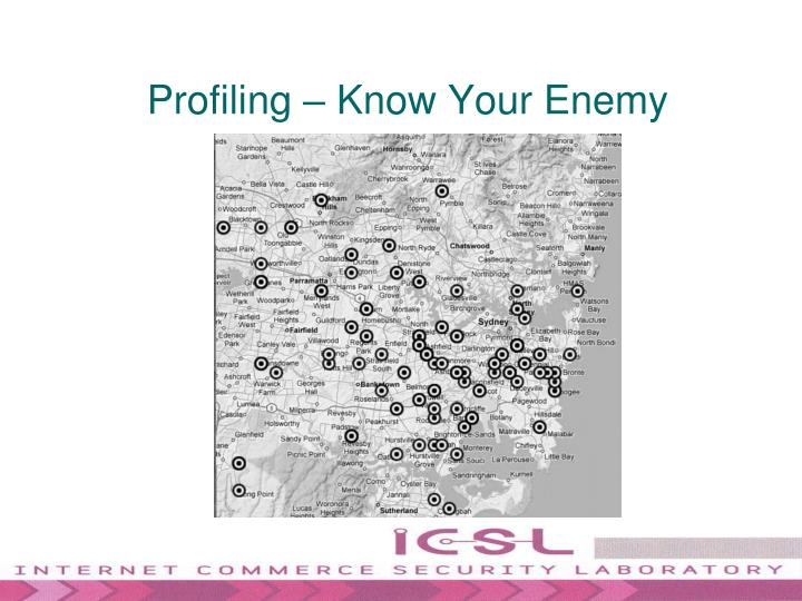 Profiling – Know Your Enemy