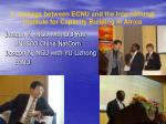 3 linkage between ecnu and the international institute for capacity building in africa