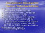 joint programme of supporting african countries in teacher capacity building