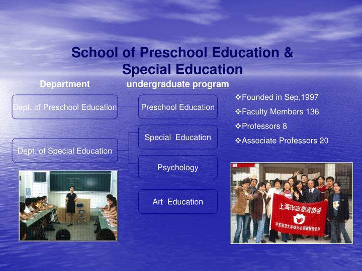 School of Preschool Education & Special Education