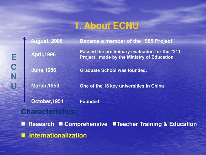 1. About ECNU