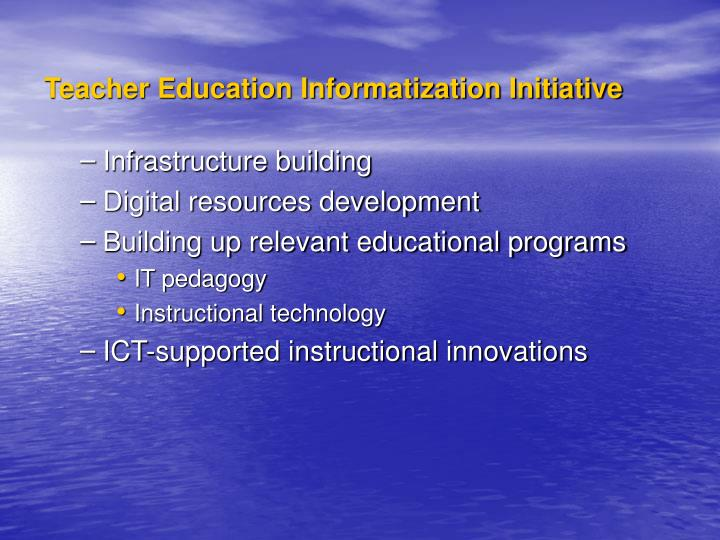 Teacher Education Informatization Initiative