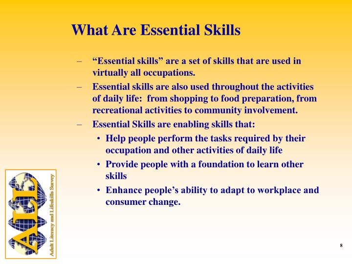What Are Essential Skills