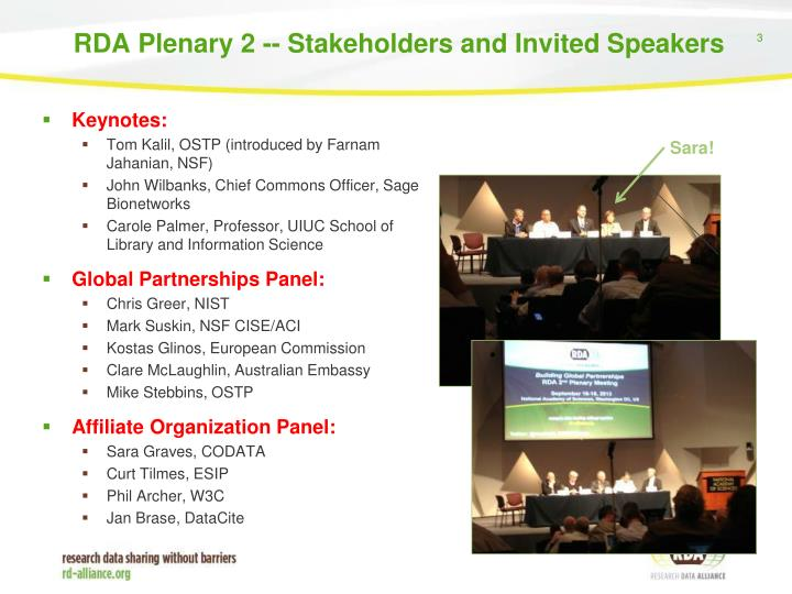 Rda plenary 2 stakeholders and invited speakers