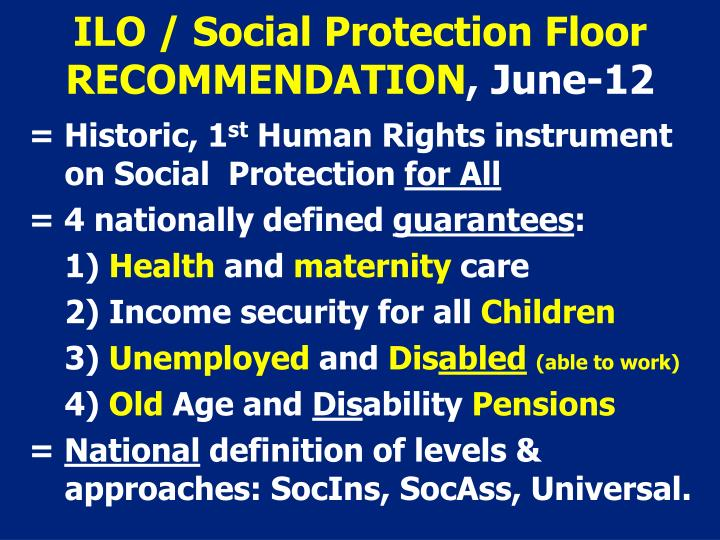 ILO / Social Protection Floor