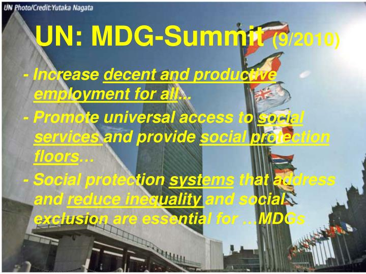 UN: MDG-Summit