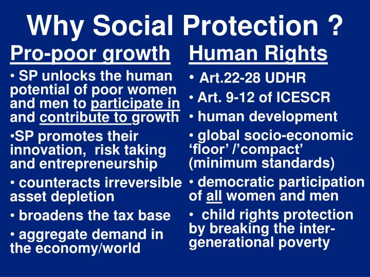 Why Social Protection ?