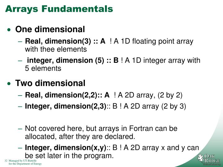 Arrays Fundamentals
