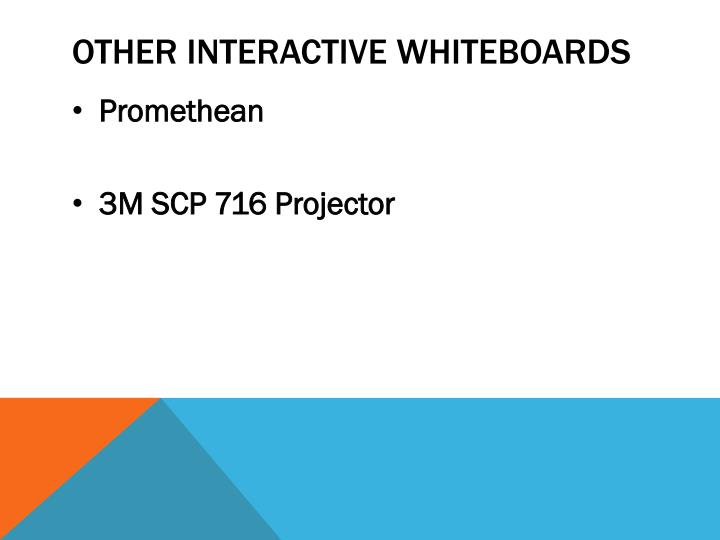 Other interactive whiteboards