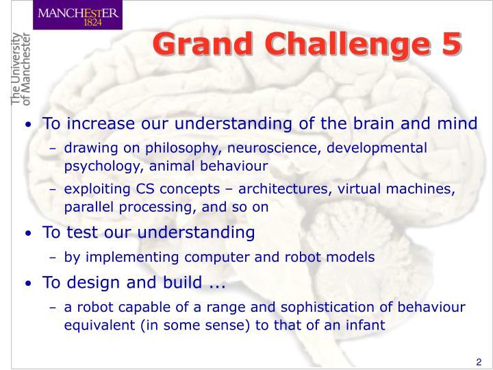 Grand Challenge 5