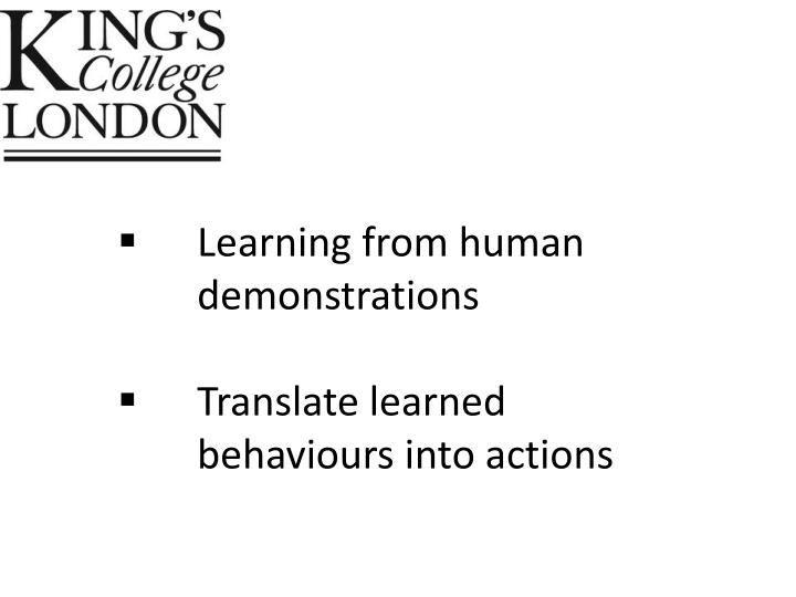 Learning from human demonstrations