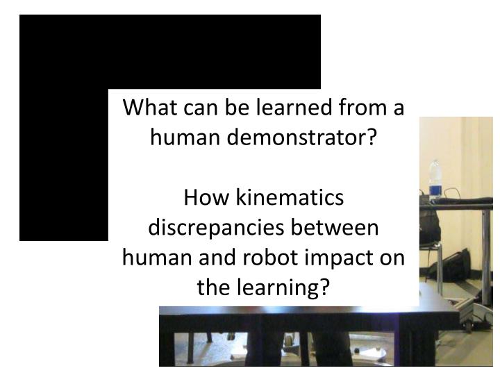 What can be learned from a human demonstrator?