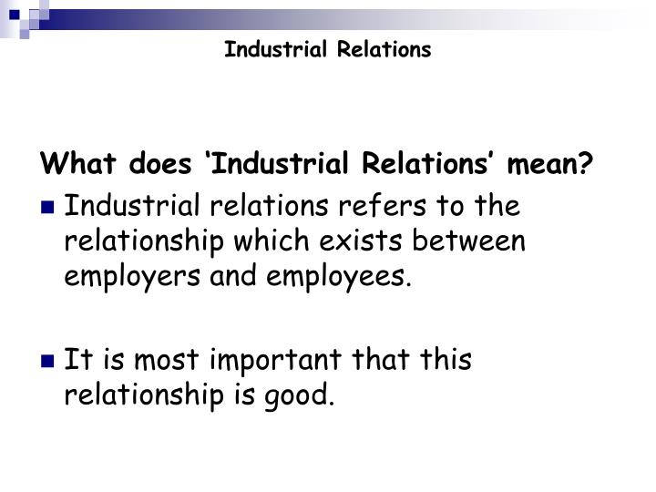 Industrial relations1