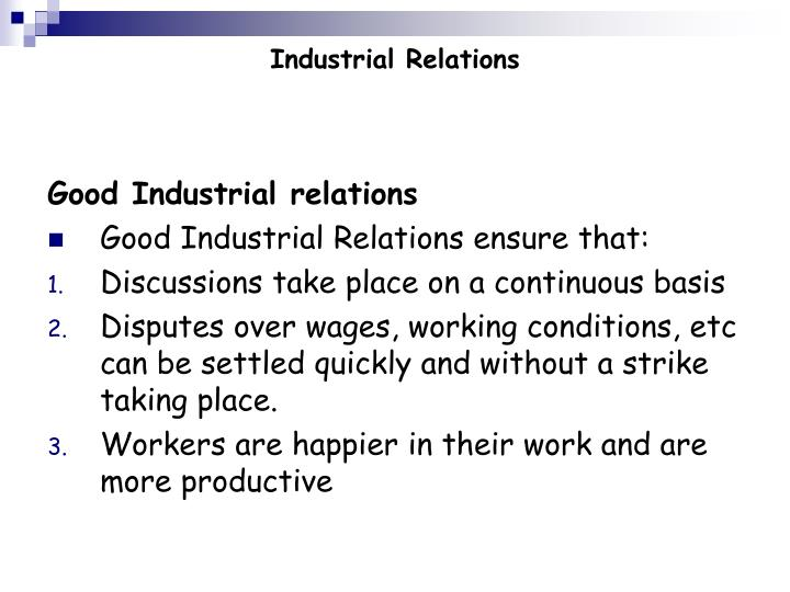 Industrial relations2