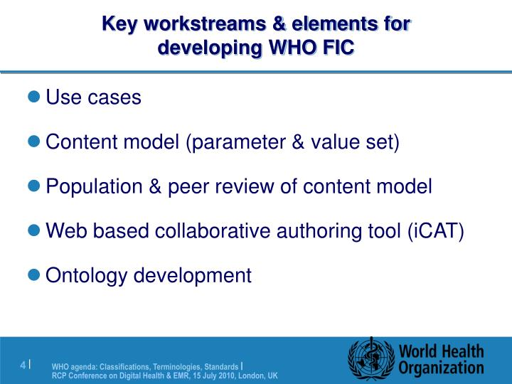 Key workstreams & elements for