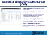 web based collaborative authoring tool icat