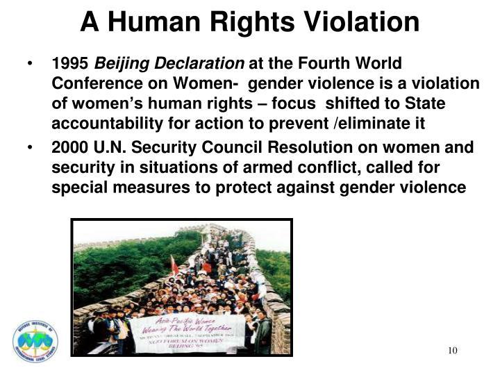 A Human Rights Violation