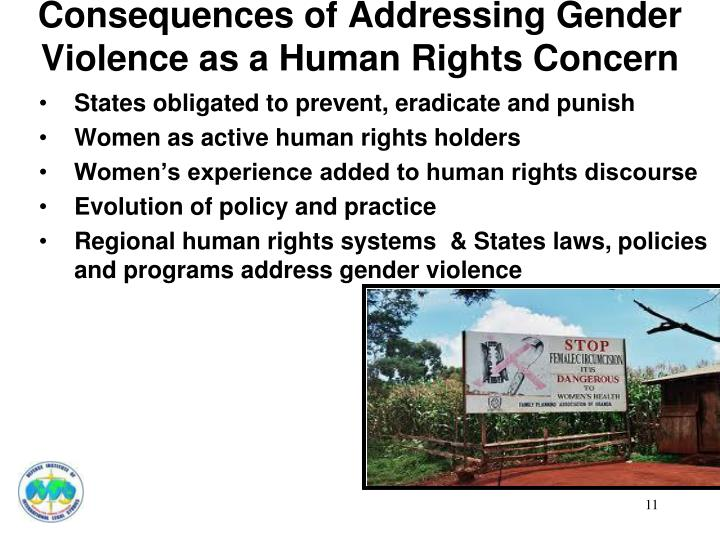 Consequences of Addressing Gender Violence as a Human Rights Concern
