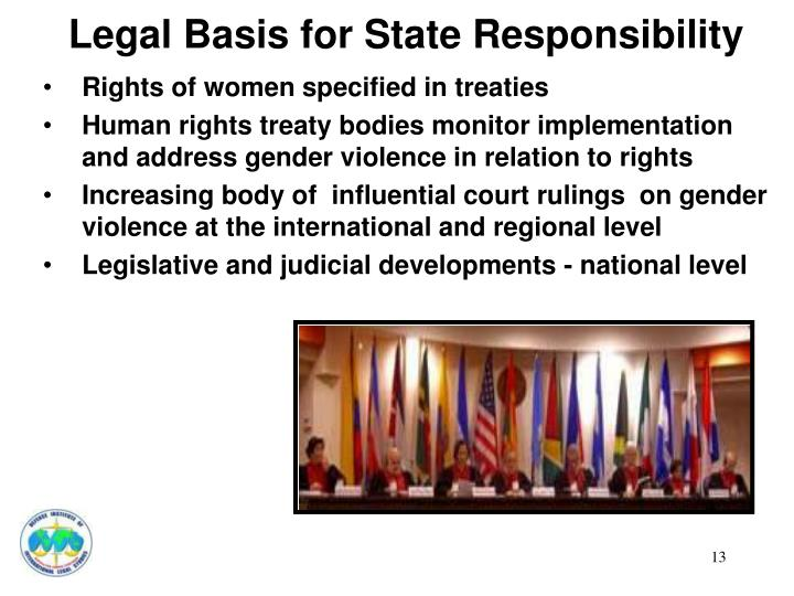 Legal Basis for State Responsibility