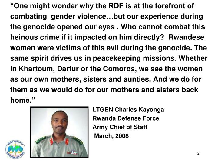 """One might wonder why the RDF is at the forefront of"