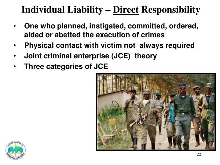 Individual Liability –