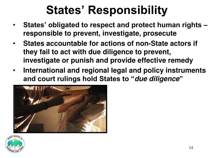 States' Responsibility