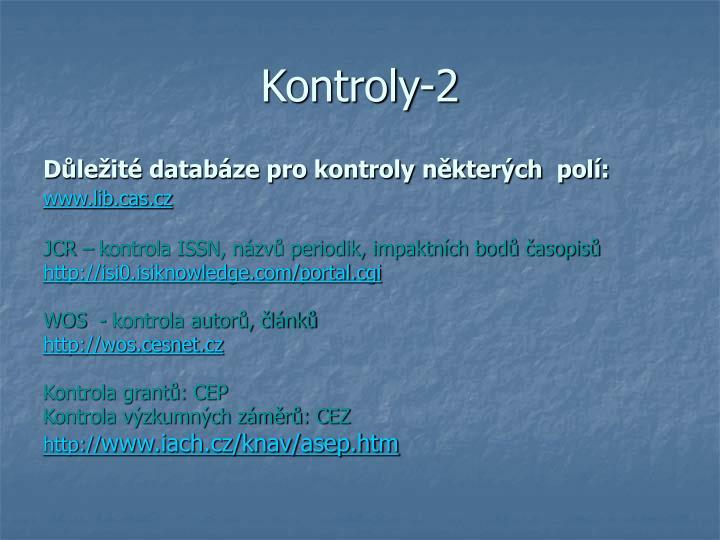 Kontroly-2