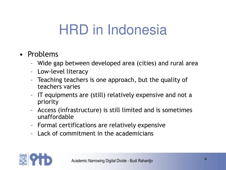 HRD in Indonesia